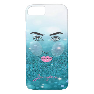 Adorable Modern,Glitter,Face Silhoutte-Personalize Case-Mate iPhone Case