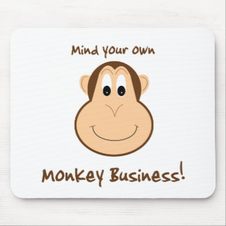 Adorable monkey mouse pad