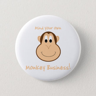 Adorable monkey pin