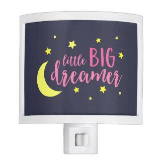 Adorable Moon and Stars Pink Little Big Dreamer Nite Light
