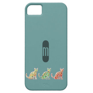 Adorable mosaic colorful cute cats monogram case for the iPhone 5
