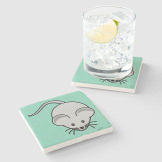 Adorable Mouse Stone Coaster