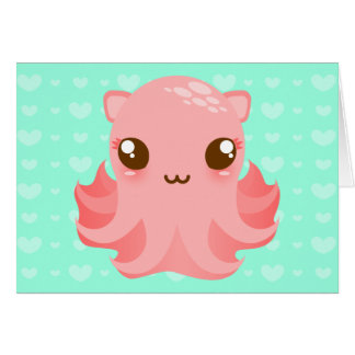 Adorable Octopus - Cute Custom Note Card