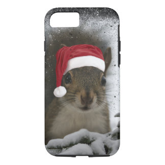 Adorable Original Santa Squirrel in Snow iPhone 8/7 Case