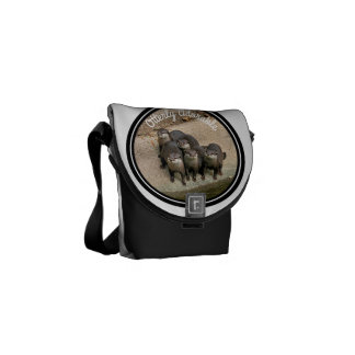 Adorable Otters Family | Cute Wildlife Photo Courier Bag