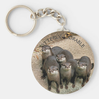 Adorable Otters Nature Photo for Animal Lovers Keychain
