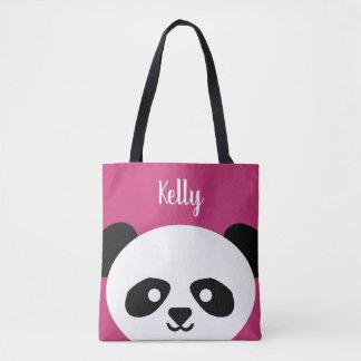 Adorable Panda Bear Animal Pink Kawaii Tote Bag