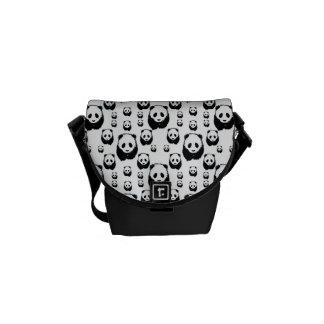 Adorable Panda Pattern Messenger Bag