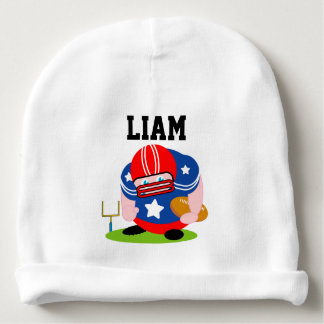 Adorable patriotic American football player design Baby Beanie