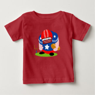 Adorable patriotic American football player design Baby T-Shirt