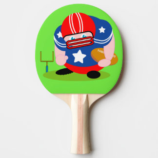 Adorable patriotic American football player design Ping Pong Paddle