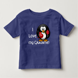 "Adorable penguin declares ""I love my Grauntie!"" Toddler T-shirt"