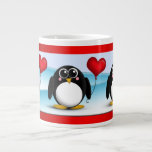 Adorable Penguin Heart Balloon - 20oz Jumbo Mug 20 Oz Large Ceramic Coffee Mug