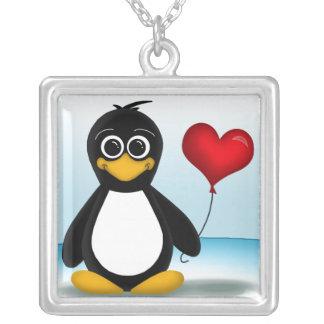 Adorable Penguin Heart Balloon Necklace