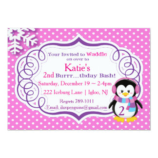 Adorable Penguin Invite