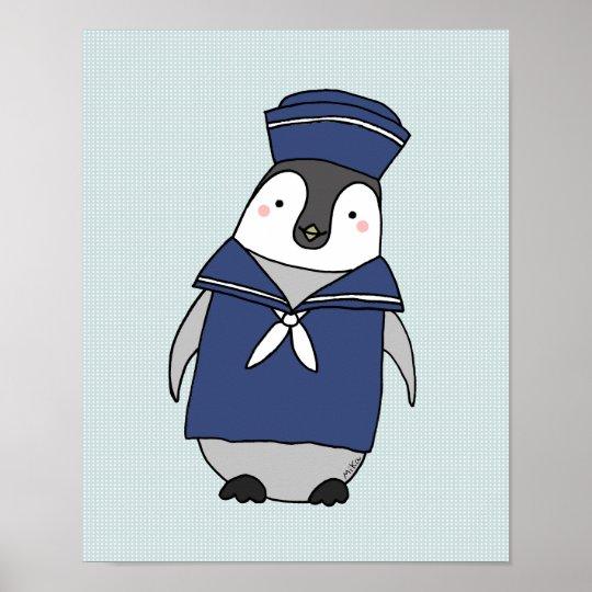 Adorable Penguin Nurser Art Baby Penguin Poster