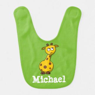 Adorable Personalized Baby Giraffe Baby Bib