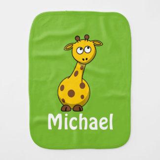 Adorable Personalized Baby Giraffe Burp Cloths