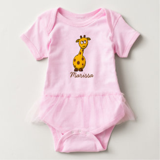 Adorable Personalized Baby Giraffe T-shirt