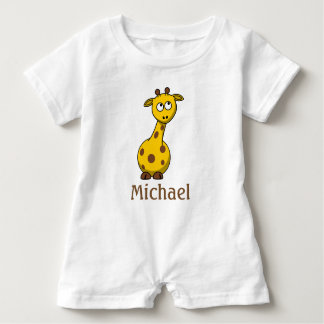 Adorable Personalized Baby Giraffe T Shirts