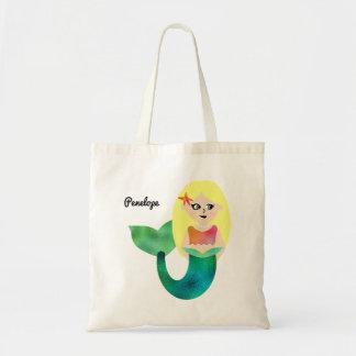 Adorable Personalized Faux Foil Blonde Mermaid