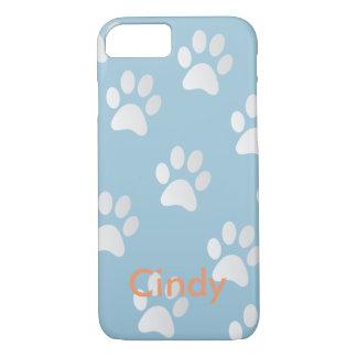 Adorable Pet Paws Print Pattern Monogram iPhone 7 Case
