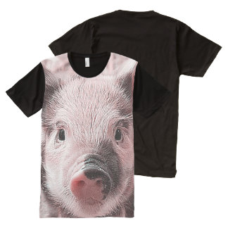 adorable piglet All-Over-Print T-Shirt