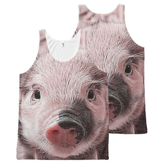 adorable piglet All-Over-Print tank top