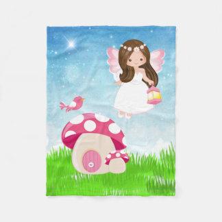 Adorable pink fairy fleece blanket