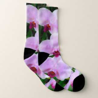 Adorable Pink Flower Photography Socks 1