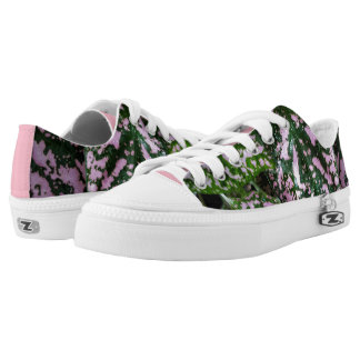 ADORABLE PINK GREEN PLANT SNEAKERS