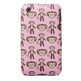 Adorable Pink Monkey iPhone 4 Case