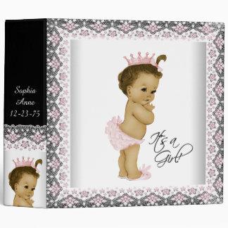 Adorable Pink Princess Baby 3 Ring Binder