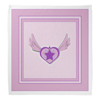 Adorable Pink Wings and Heart Bandana
