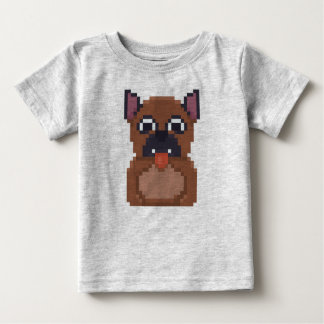 Adorable Pixel pug pup shirt for toddlers.