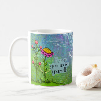 Adorable Positive Thought Doodle Flower Mug