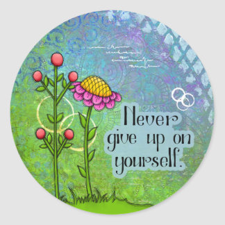 Adorable Positive Thought Doodle Flower Sticker