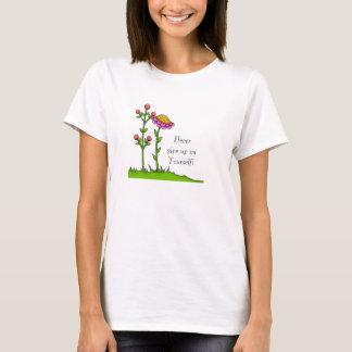 Adorable Positive Thought Doodle Flower T-Shirt