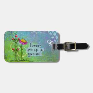 Adorable Positive Thought Doodle Flower Tag