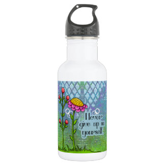 Adorable Positive Thought Doodle Flower Water Bot 532 Ml Water Bottle