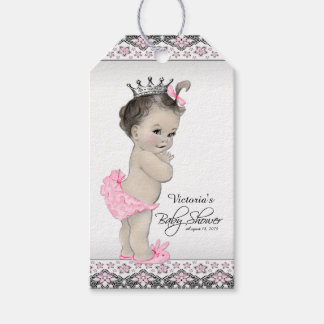 Adorable Princess Baby Shower Gift Tags