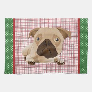 Adorable Pug Home Decor Gifts Hand Towel