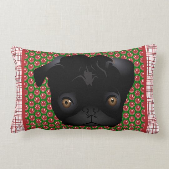Adorable Pug Home Decor Gifts Lumbar Pillow
