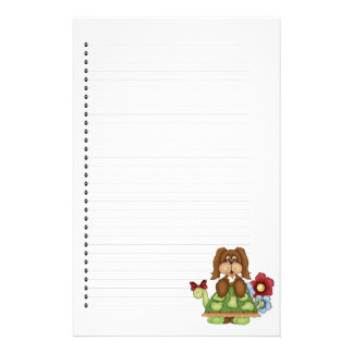 Adorable Puppy Dog Lined Stationery