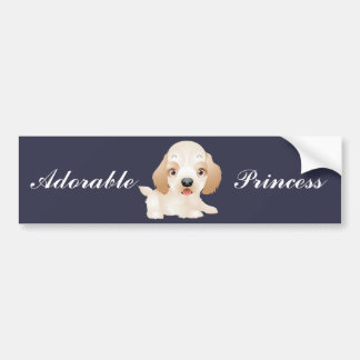 Adorable Puppy Dog multiple products selected Bumper Sticker