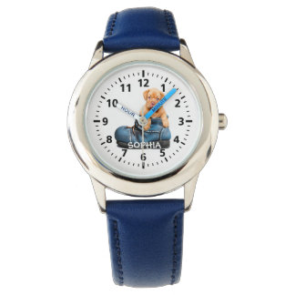 Adorable Puppy in Shoe Personalized Child's Watch