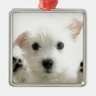 Adorable Puppy Metal Ornament