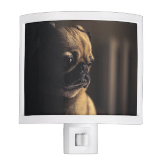 Adorable purebred pug night lights