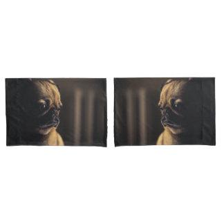 Adorable purebred pug pillowcase