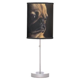 Adorable purebred pug table lamp